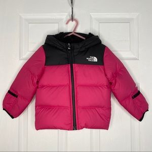 THE NORTH FACE GIRLS HOODED DOWN JACKET
